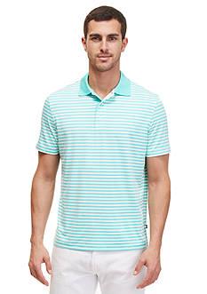 Nautica Short Sleeve Striped Tech Jersey Polo Shirt