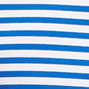 Shirts For Guys: Stripes & Prints: Sea Cobalt Nautica Short Sleeve Striped Tech Jersey Polo Shirt