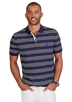 Nautica Classic Fit Mini Stripe Polo Shirt