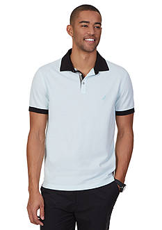 Nautica Slim Fit Solid Pique Polo Shirt