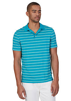 Nautica Striped Tech Jersey Polo Shirt