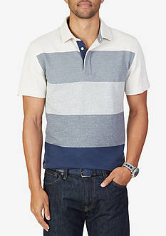 Nautica Slim Fit Gradient Stripe Polo Shirt