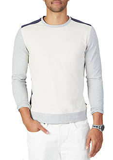 Nautica Slim Fit Color Blocked Long Sleeve Shirt