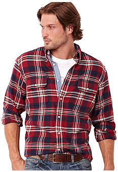 Nautica Big & Tall Large Plaid Shirt