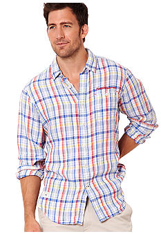 Nautica Big & Tall Multi Plaid Shirt
