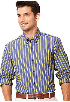 Nautica Big & Tall Traditional Bold Stripe Shirt