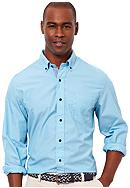 Nautica Big & Tall Stripe Poplin Shirt