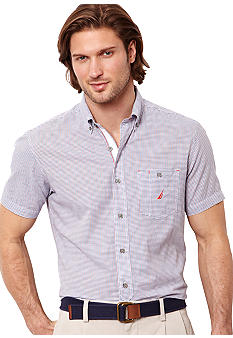 Nautica Big & Tall Small Check Woven Shirt