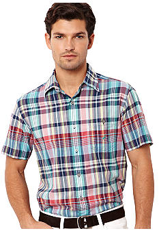 Nautica Big & Tall Madras Plaid Poplin Shirt