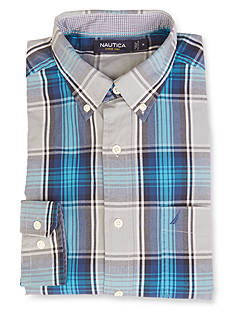 Nautica Big & Tall Long Sleeve Large Plaid Shirt
