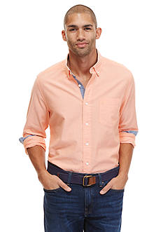 Nautica Big & Tall Solid Oxford Woven Shirt