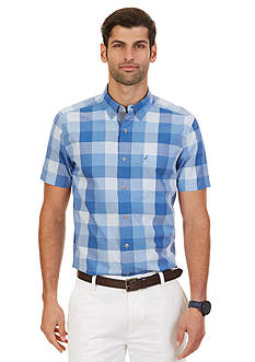 Nautica Big & Tall Buffalo Plaid Short Sleeve Shirt