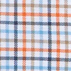 Mens Big and Tall Casual Shirts: Check & Plaid: Sun Coast Orange Nautica Big & Tall Tattersall Oxford Shirt
