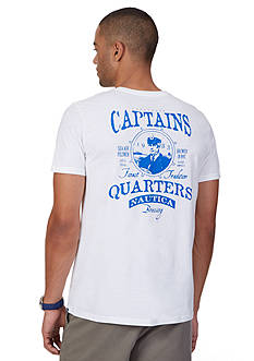 Nautica Big & Tall Captain's Quarters Short Sleeve Graphic Tee