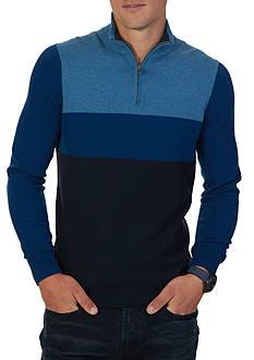 Nautica Color Block Quarter-Zip Sweater
