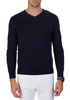 Nautica Multi-Texture V-Neck Sweater