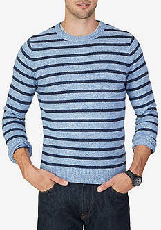 Nautica Snow Cotton Striped Sweater