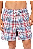 Nautica Jig Plaid Swim Trunks