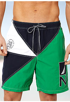 Nautica Colorblock Elastic Trunks