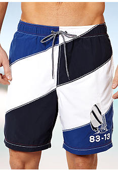 Nautica Diagonal Colorblock Trunks