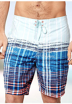 Nautica Printed Plaid Boardshort