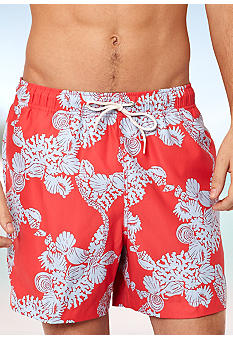 Nautica Whimsy Coral Swim Trunks