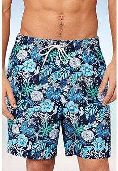 Nautica Tonal Sealife Swim Trunks