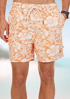 Nautica Quick Dry Tropic Floral Swim Trunks
