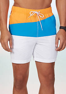Nautica Slant Colorblock Swim Trunks