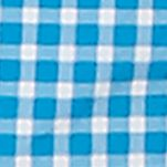 Men: Swimwear Sale: Star Turquoise Nautica Quick Dry Gingham Swim Trunks