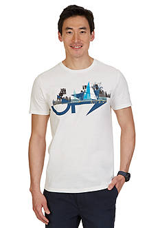 Nautica Short Sleeve Yacht City Crewneck Graphic Tee