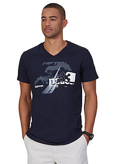 Nautica Water V-Neck Graphic Tee