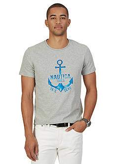 Nautica Painted Anchor Graphic Tee