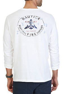 Nautica Sea Cadet Graphic Long Sleeve Tee
