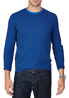 Nautica Classic Fit Striped Long Sleeve T-Shirt