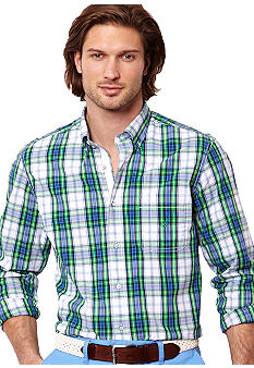 Nautica Poplin Multi Plaid Shirt