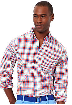 Nautica Long Sleeve Slub Check Shirt