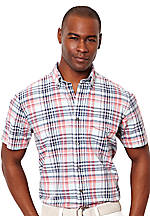 Nautica Poplin Plaid Shirt