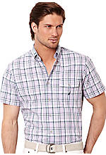 Nautica Slub Medium Plaid Shirt