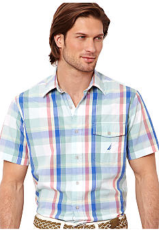 Nautica Large Color Plaid Shirt