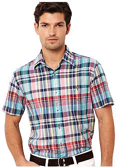 Nautica Madras Plain Plaid Shirt