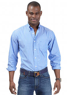 Nautica Long Sleeve Wrinkle Resistant Striped Shirt