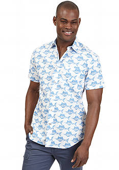 Nautica Short Sleeve Fish Print Shirt