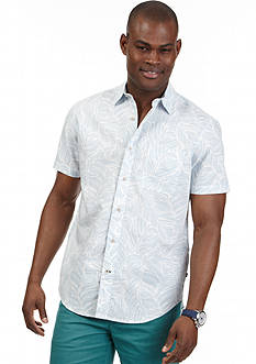 Nautica Short Sleeve Leaf Print Shirt