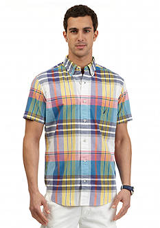 Nautica Short Sleeve Colorful Madras Shirt