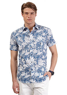 Nautica Short Sleeve X-Hatch Floral Shirt