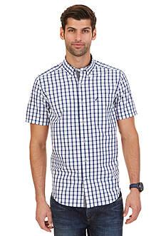 Nautica Slub Poplin Plaid Shirt