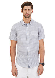 Nautica Federal Gingham Short Sleeve Shirt