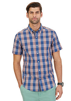 Nautica Fireside Gingham Short Sleeve Shirt