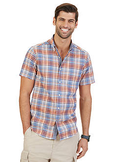 Nautica Fireside Plaid Short Sleeve Shirt